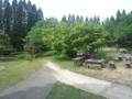 山の公園ののどかな日