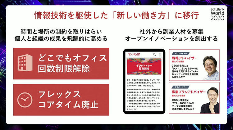 情報技術を駆使した「新しい働き方」に移行|SoftBank World 2020「SoftBank CEO Summit」