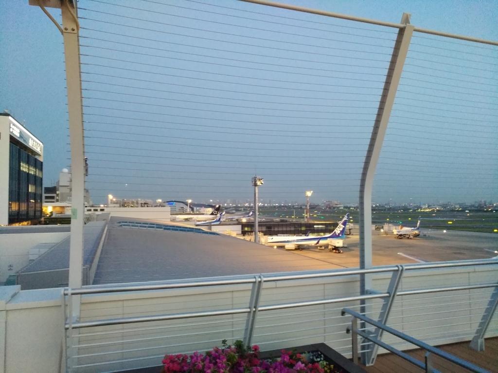 展望台から見たANA便の風景