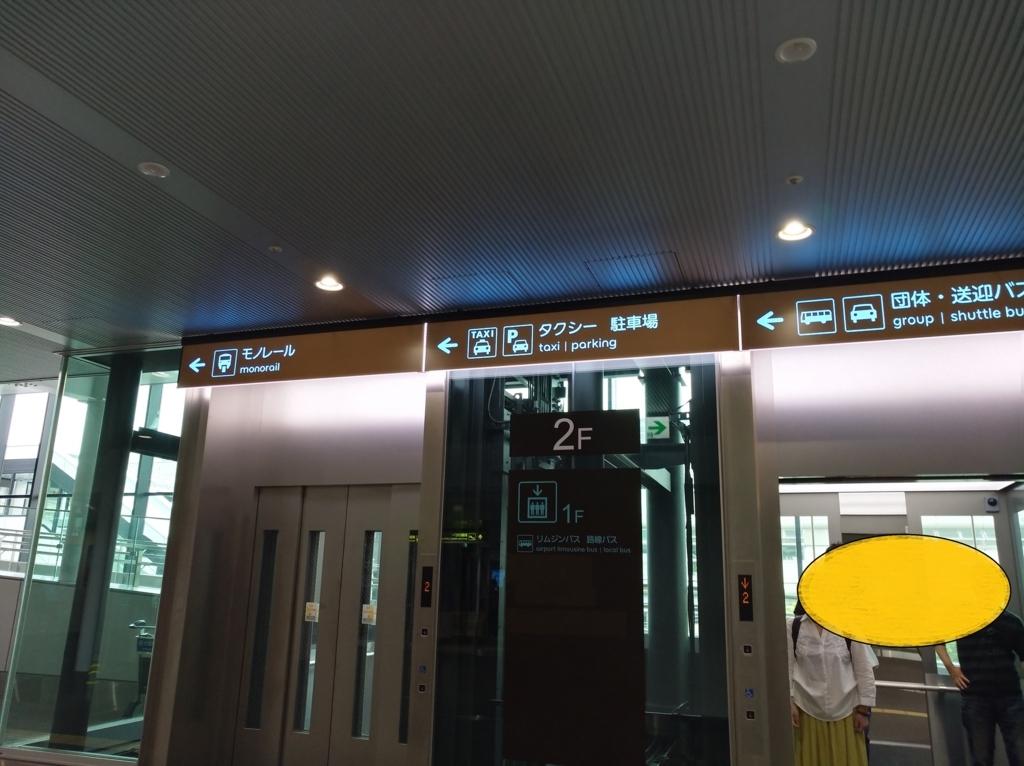 伊丹空港到着ロビーをまっすぐ行った入口