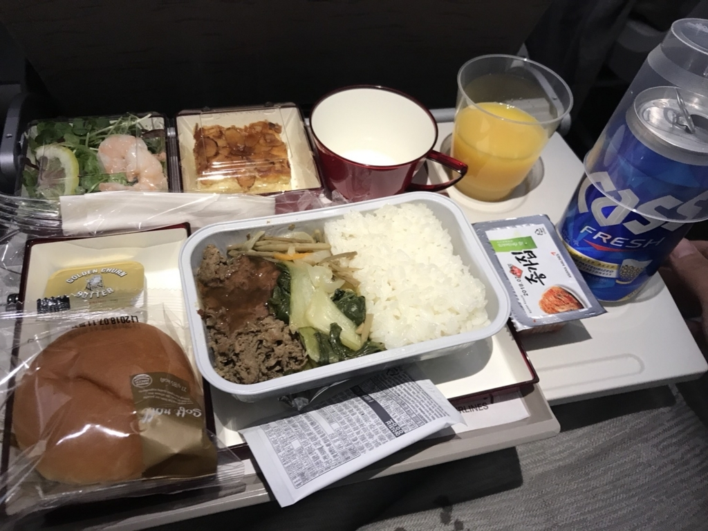 アシアナ航空 機内食