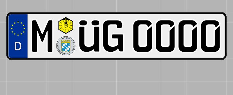 ドイツ(EEC license plate 520mm 114mm)