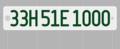 3in×1.5in/都道府県コード(№33=岡山県)+アルファベット