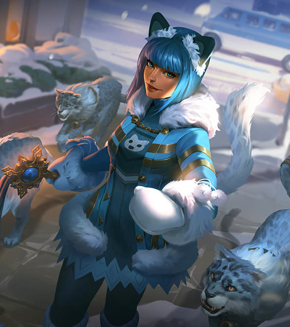 SMITEバステト (Snow Kitten Bastet)