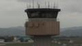 出発。仙台空港にできた展望デッキからみた管制塔。