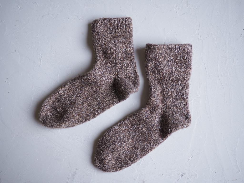 絹紬糸 靴下