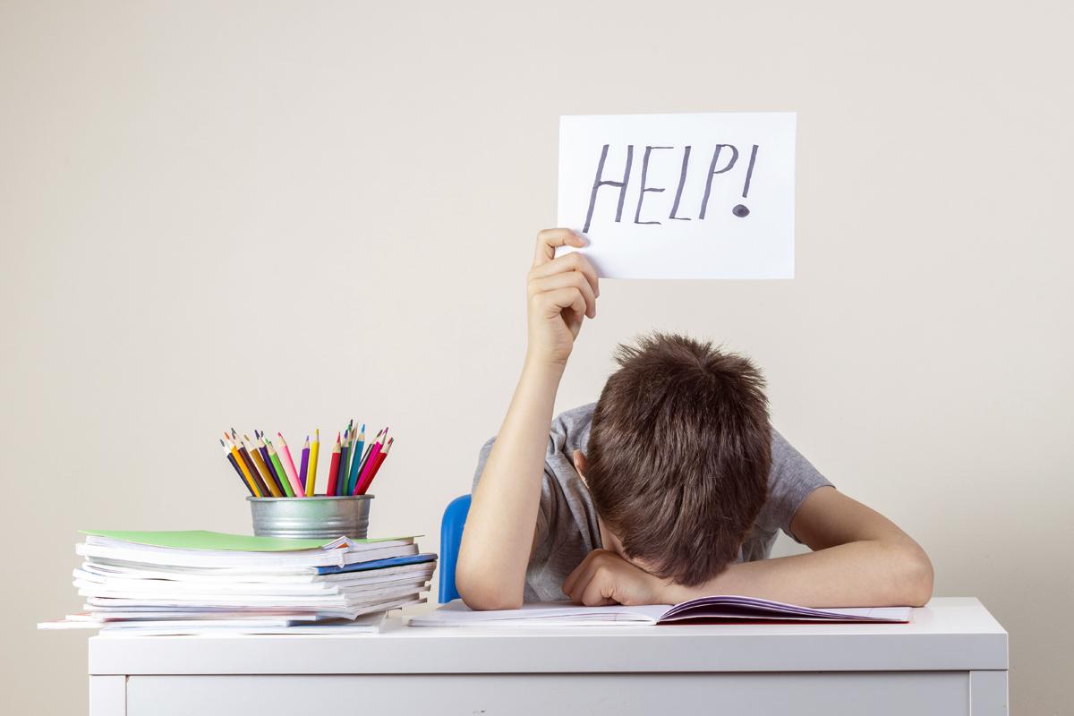 勉強に悩む子ども