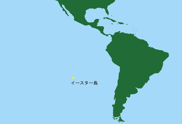 イースター島の地図