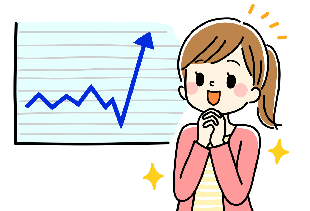 株価が上がった