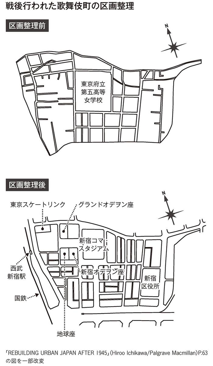 歌舞伎町の区画整理