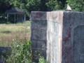 ブロック塀と東屋