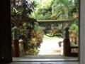 拝殿から鳥居を見下ろす(月代宮にて)