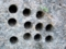 地質調査用の穴