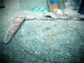 墓の修復工事