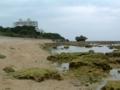 久手堅の海岸にて
