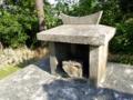 字照屋の石獅子の横の拝所