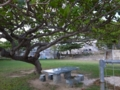 「黒船の来航」の碑のある広場