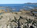 板良敷の海岸にて