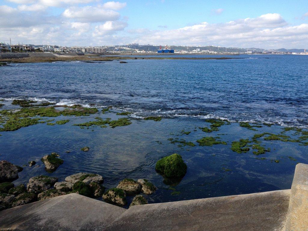 板良敷の海岸