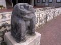 与那原町コミュニティーセンター前の石獅子@与那原町字与那原