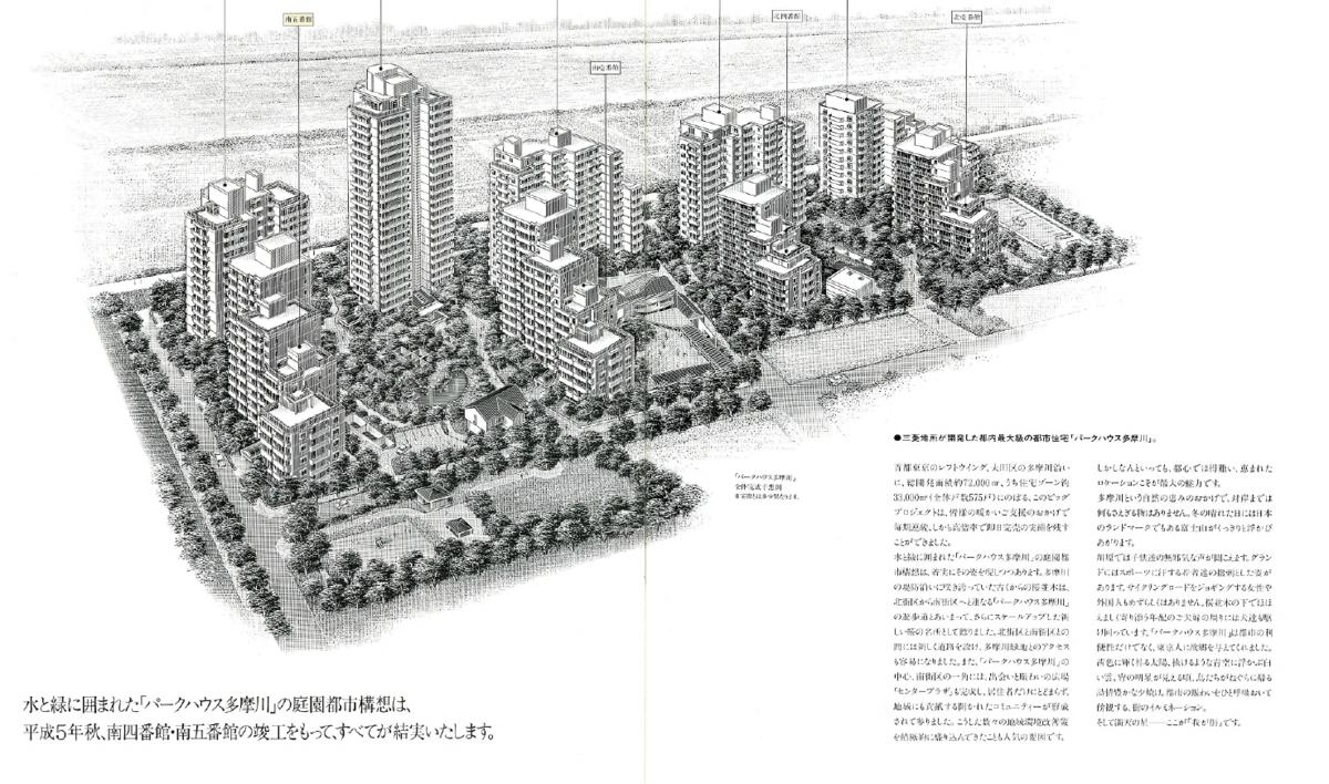 パークハウス多摩川分譲当時のパンフレットの1ページ