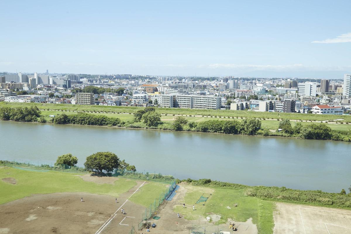 マンションからの眺めた多摩川