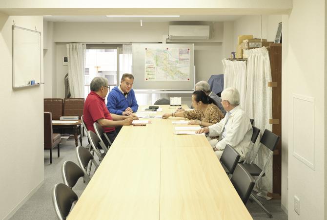 理事会や委員会が開催される集会室