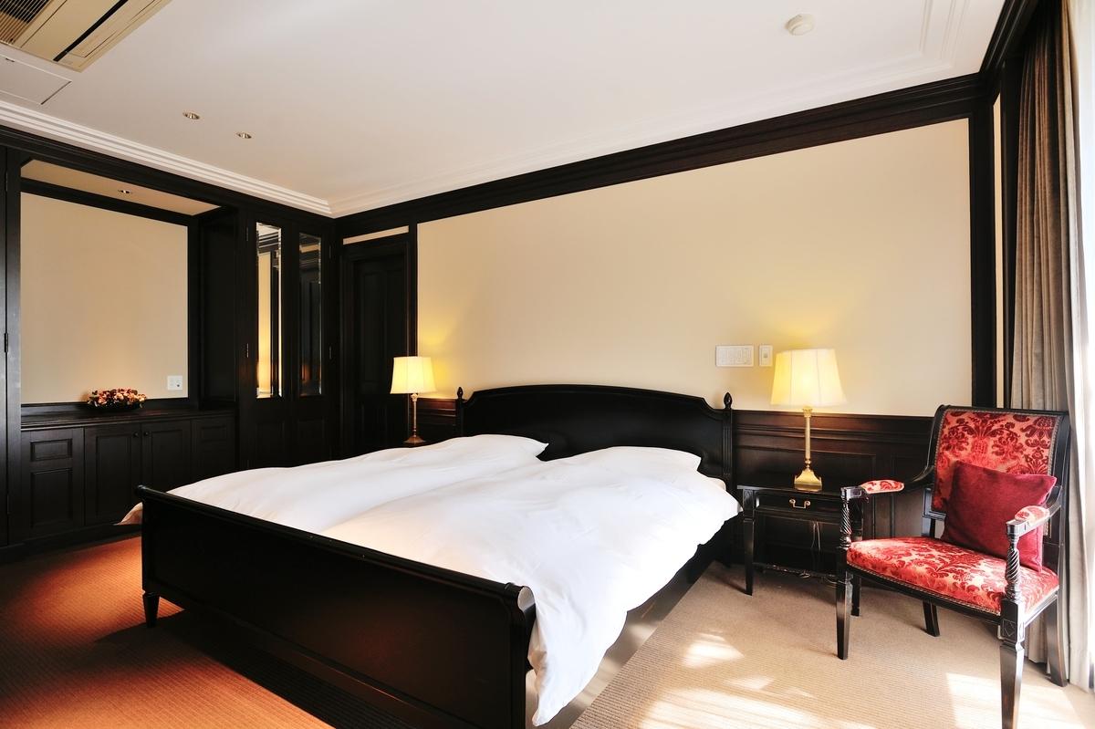 パークシティ浜田山のゲストルーム内にあるベッド