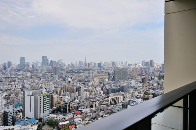 中目黒アトラスタワーのパーティールームからの眺望