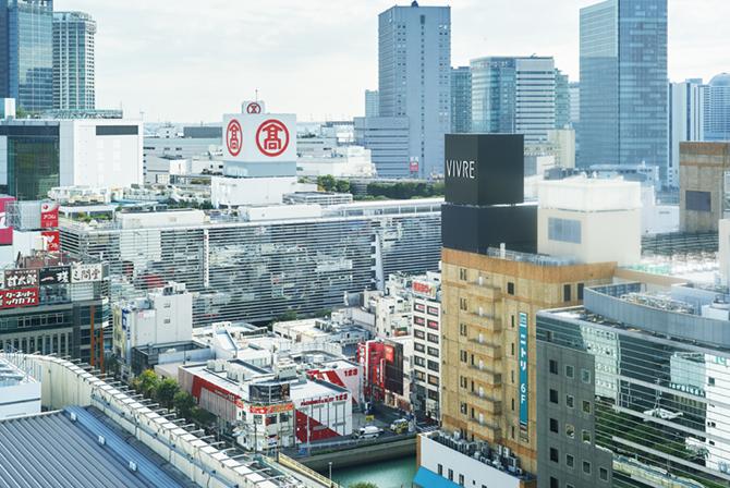 ブランズ横浜から望む横浜駅西口周辺