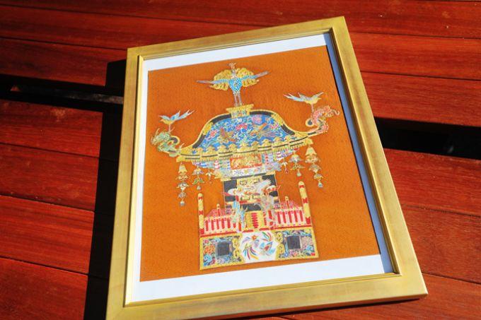 サンシティの住人でもあり、染色の先生でもある山上さんの作品