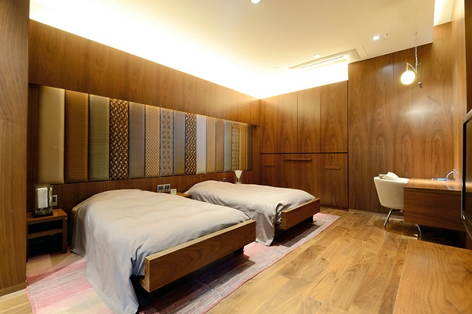オーナーズスイートのベッドルームの写真