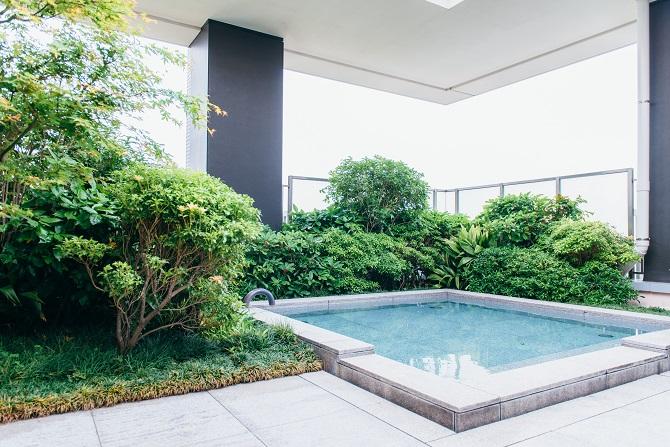 ブリリアマーレ有明のスパにある露天風呂の写真