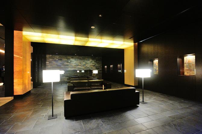 ガレリアグランデの3階の共用ラウンジ