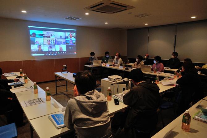 オンライン理事会の写真