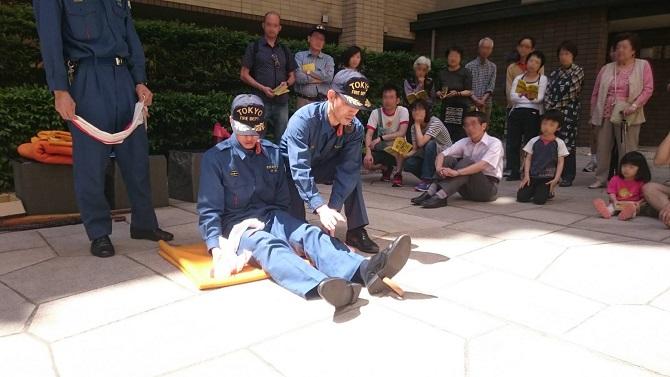 アトラス江戸川アパートメントの防災訓練の写真