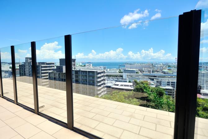 ブリリアシティ横浜磯子の敷地内からの眺望