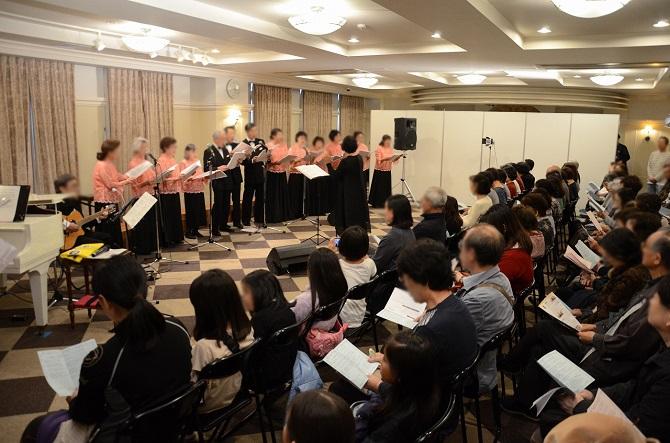 レイディアントシティ横濱の「秋の文化祭 サークル発表会」の様子