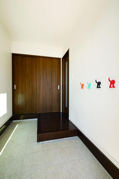 3畳の広さを確保した玄関