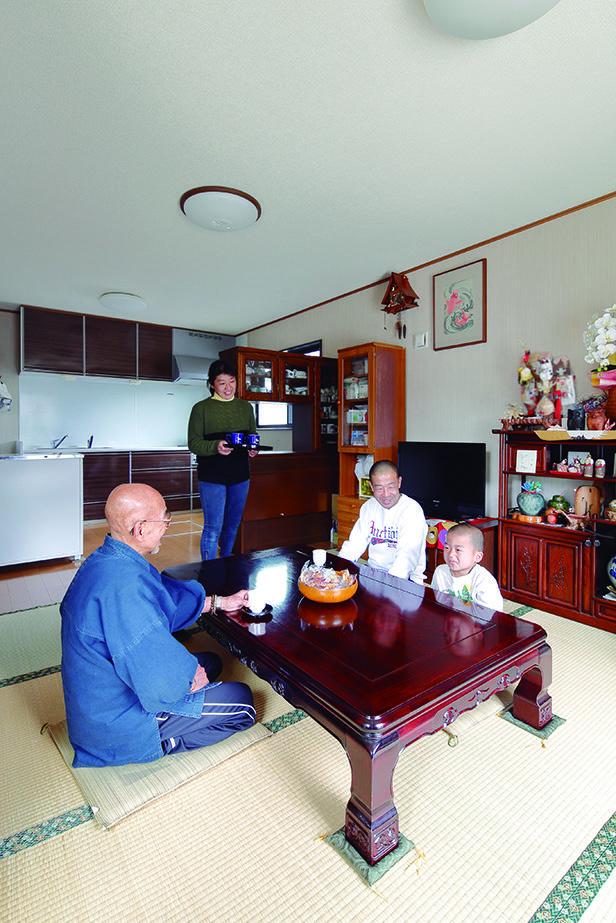 三世代で同居する二世帯住宅