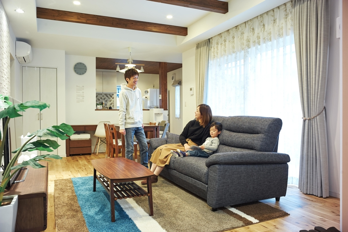 茨城県の注文住宅事例;リビング