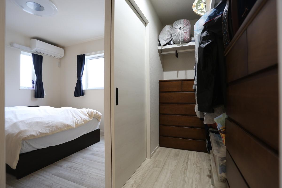 寝室;ウォークインクロゼット