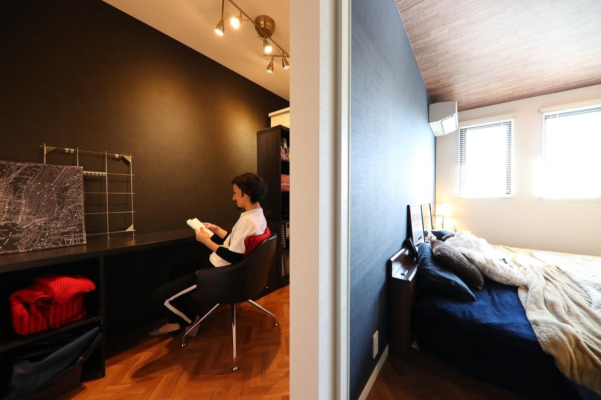書斎;寝室