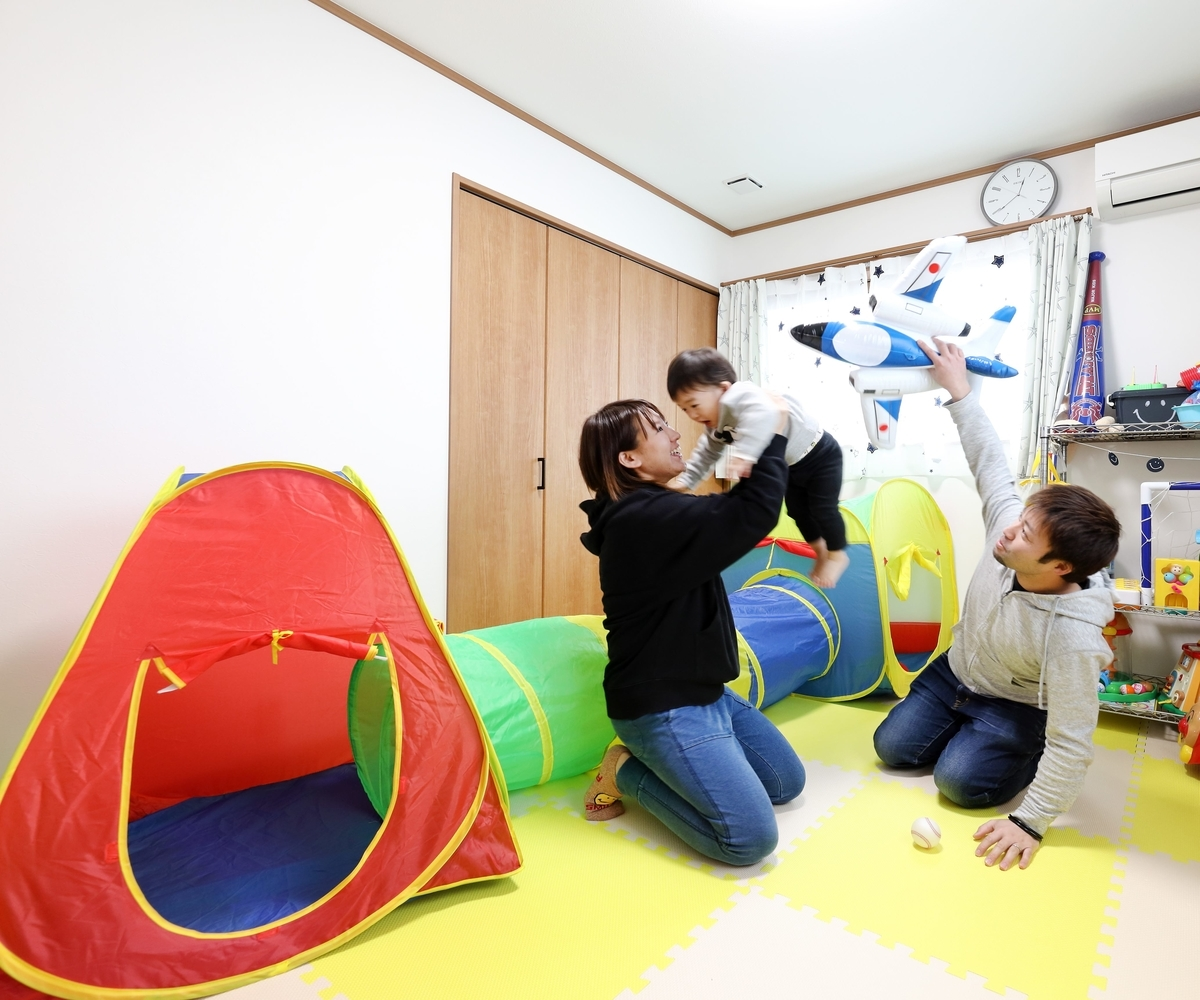 将来を考え2部屋設けた子供部屋/注文住宅実例