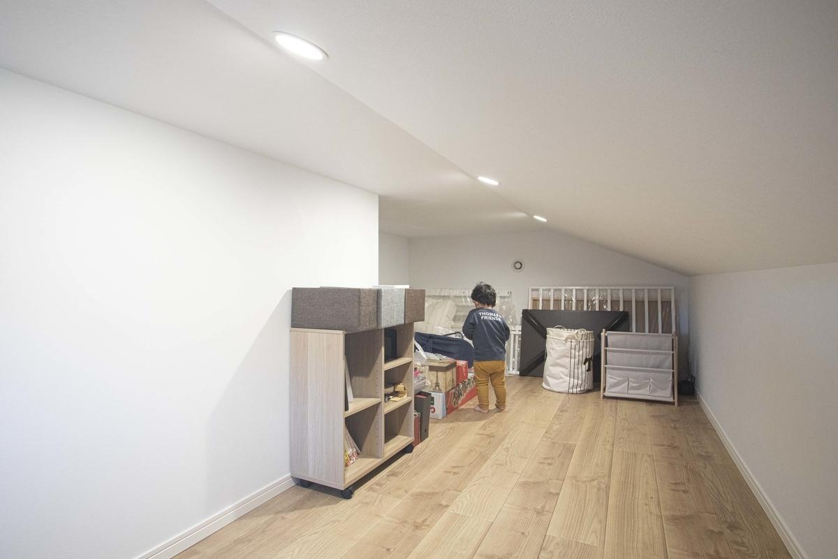 スペースを活用した小屋浦収納/注文住宅実例
