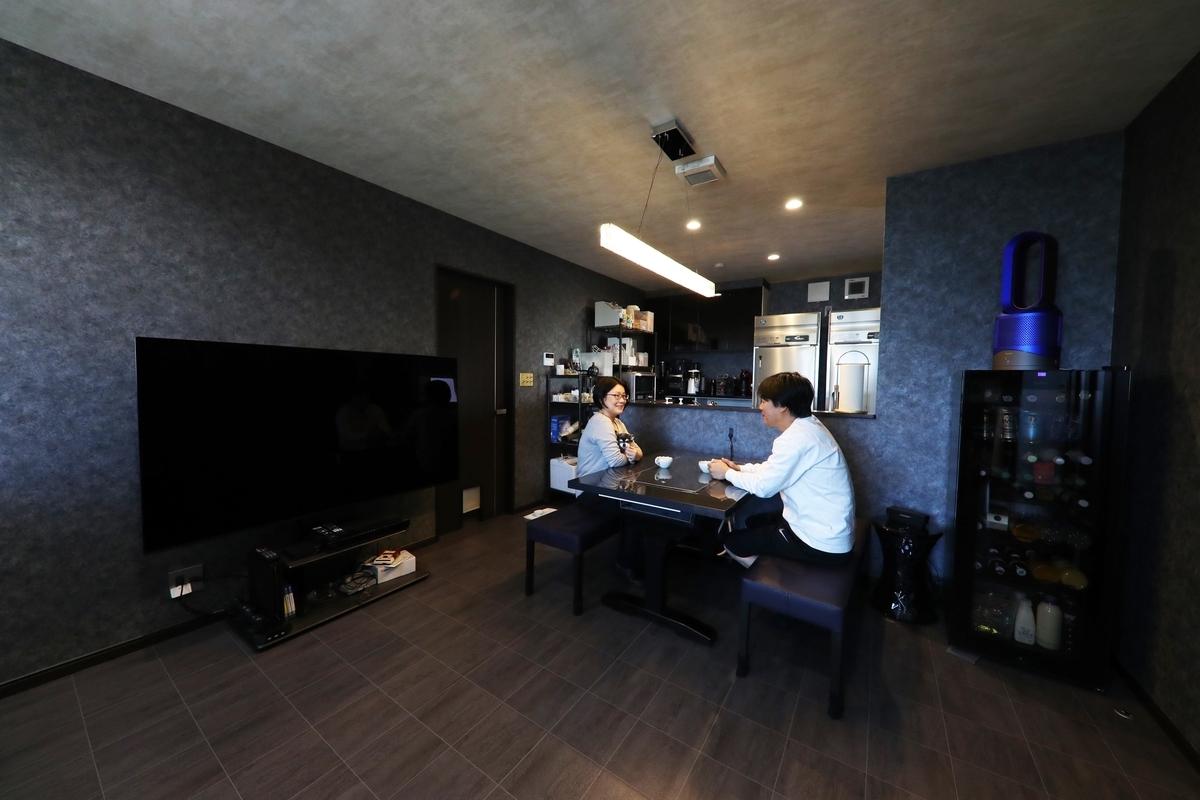 愛知県の注文住宅実例;リビング