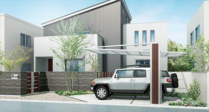 オープンタイプの駐車スペース