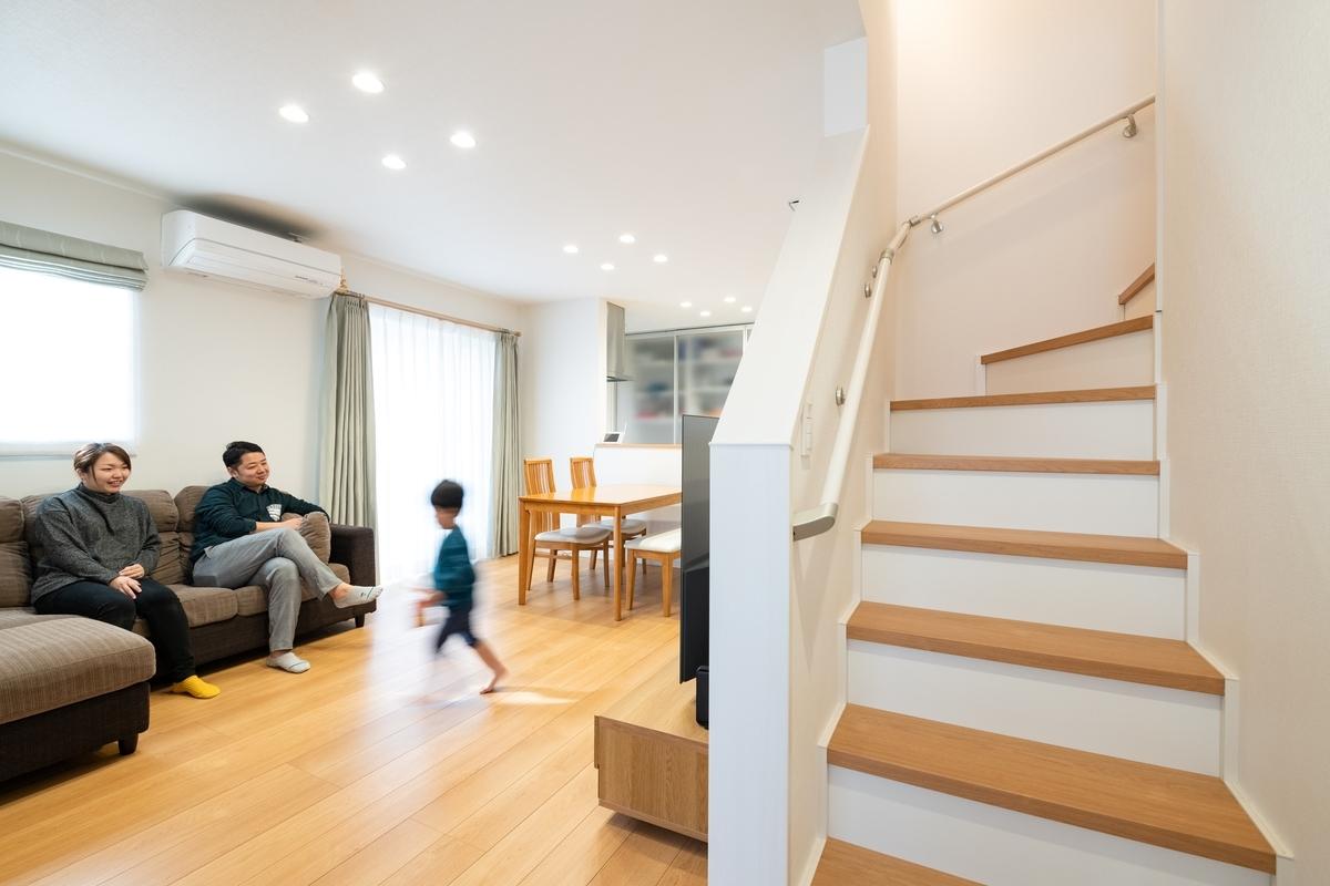 リビングダイニングキッチン;リビング階段