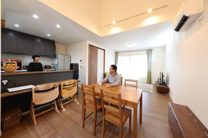 愛知県の注文住宅実例:リビング