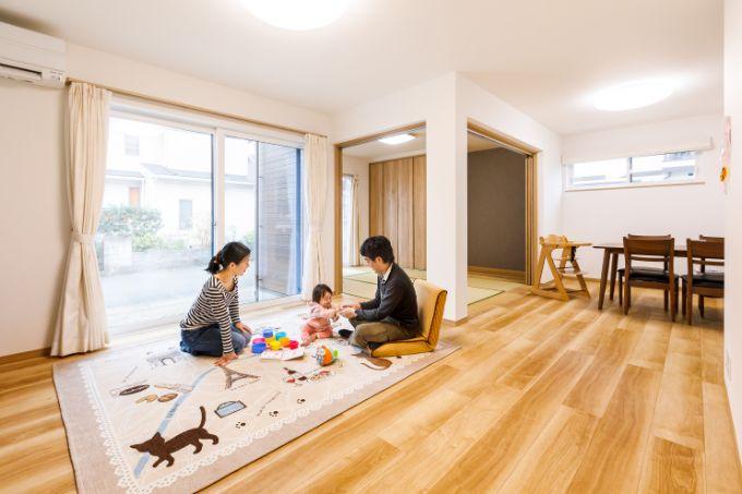 埼玉県の注文住宅実例;リビング